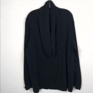 •Lafayette 148• Black Cowl Neck Wool 3XL Sweater